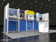 Billfish 10x10 trade show displays by Structurz Exhibits and Graphics.