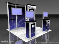 EyeMD 10x10 trade show displays by Structurz Exhibits and Graphics.