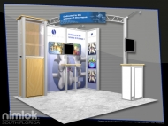 Intrinsic 10x10 trade show displays by Structurz Exhibits and Graphics.