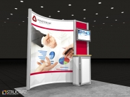 Mindstream 10x10 trade show displays by Structurz Exhibits and Graphics.