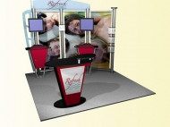 Refresh 10x10 trade show displays by Structurz Exhibits and Graphics.