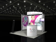 ids 10x10 trade show displays by Structurz Exhibits and Graphics.