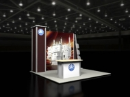 10x10 trade show displays by Structurz Exhibits and Graphics.