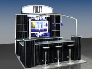 Volta trade show display by Structurz Exhibits and Graphics.
