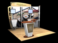 Chef's Choice 10x10 trade show displays by Structurz Exhibits and Graphics.