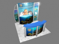Ocean World 10x10 trade show displays by Structurz Exhibits and Graphics.
