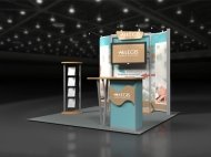 Allegis 10x10 trade show displays by Structurz Exhibits and Graphics.