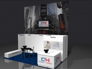 Unnamed 10x20 trade show booth by Structurz Exhibits and Graphics.