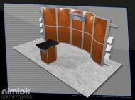 Florida Peninsula 10x20 trade show booth by Structurz Exhibits and Graphics.