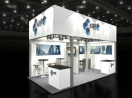 BOMI 10x20 trade show booth by Structurz Exhibits and Graphics.