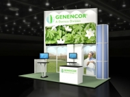 Genencor 10x20 trade show booth by Structurz Exhibits and Graphics.
