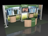L.L. Bean 10x20 trade show booth by Structurz Exhibits and Graphics.