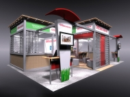 Office Depot 10x20 trade show booth by Structurz Exhibits and Graphics.