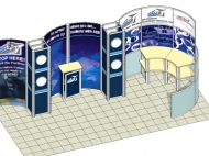 ADAS 10x20 trade show booth by Structurz Exhibits and Graphics.