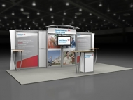 Bank of America 10x20 trade show booth by Structurz Exhibits and Graphics.