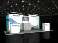 SurModics 10x20 trade show booth by Structurz Exhibits and Graphics.