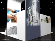 Babor 20x20 trade show displays by Structurz Exhibits and Graphics.