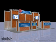 Universal 20x20 trade show displays by Structurz Exhibits and Graphics.