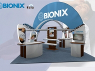Bionix 20x20 trade show exhibits by Structurz Exhibits and Graphics.