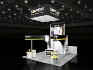 Bowens 20x20 trade show exhibits by Structurz Exhibits and Graphics.