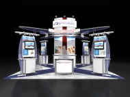 Nitto Denko 20x20 trade show exhibits by Structurz Exhibits and Graphics.