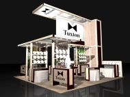 Tuxton 20x20 trade show exhibits by Structurz Exhibits and Graphics.