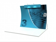 10' Vertical Wave portable trade show display